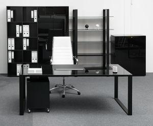MAXIM Glastisch Breite 120cm - Schwarz