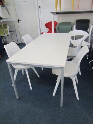 Tisch mit 6 Stühlen WEISS