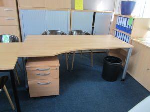 Schreibtisch mit Container Gebraucht Buchedekor