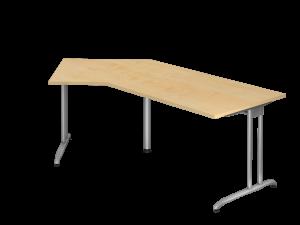 Schreibtisch 135° Breite 210cm