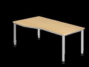 Schreibtisch breite 180cm mit Einkerbung