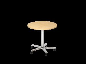 Sitz-/Stehtisch rund 80x80cm auf Rollen