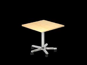 Sitz-/Stehtisch quadratisch 80x80cm auf Rollen
