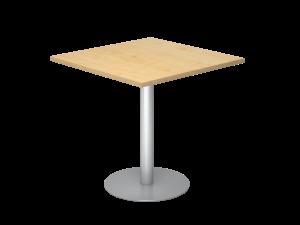 Sitz-/Stehtisch quadratisch 80x80cm auf Gleiter