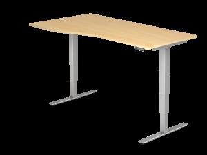 Schreibtisch T-Fuß elektrisch verstellbar B180 freeform rechts/links