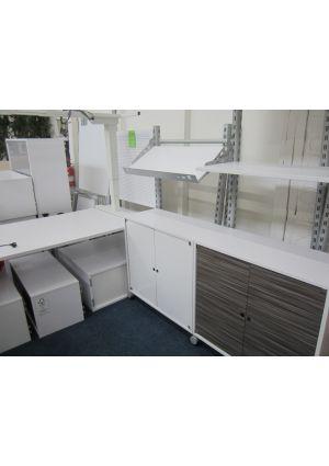 Schreibtisch-Schrank-Kombi