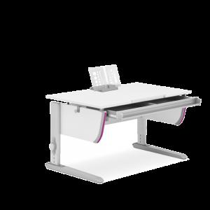 Joker Schreibtisch weiß - Gestell alu silber