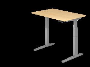 Schreibtisch C-Fuß elektrisch verstellbar B120 ohne Traverse