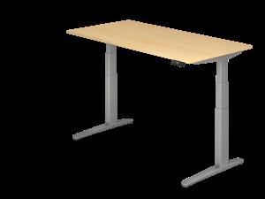 Schreibtisch C-Fuß elektrisch verstellbar B160 ohne Traverse