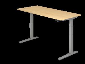Schreibtisch C-Fuß elektrisch verstellbar B180 ohne Traverse