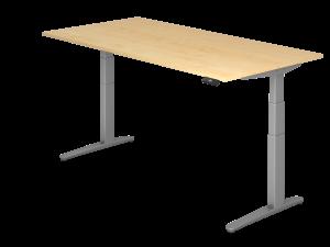 Schreibtisch C-Fuß elektrisch verstellbar B200 ohne Traverse